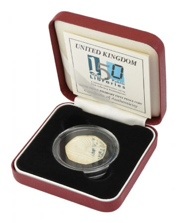 2000 Silver Proof Piedfort 50p - Libraries